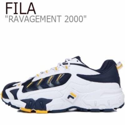 フィラ スニーカー FILA RAVAGEMENT 2000 ラビージメント 2000 WHITE ホワイト NAVY ネイビー FS1HTB1002X シューズ