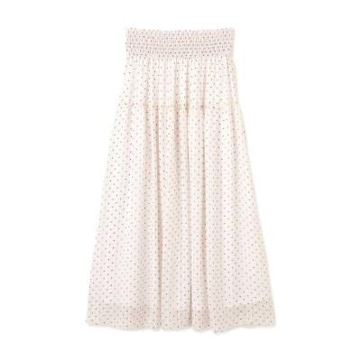 【先行予約5月下旬-6月上旬入荷予定】ウエストシャーリングシアードットスカート
