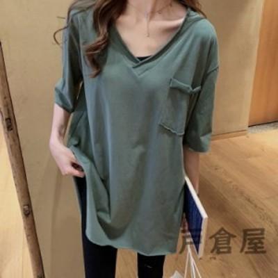 Tシャツ レディース きれいめ 40代 春夏 カジュアル 半袖Tシャツ ブラウス トップス オシャレ 韓国風 ゆったりカットソー 大きいサイズ T