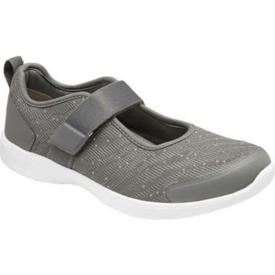 バイオニック Vionic レディース シューズ・靴 Jessica Mary Jane Charcoal Textile