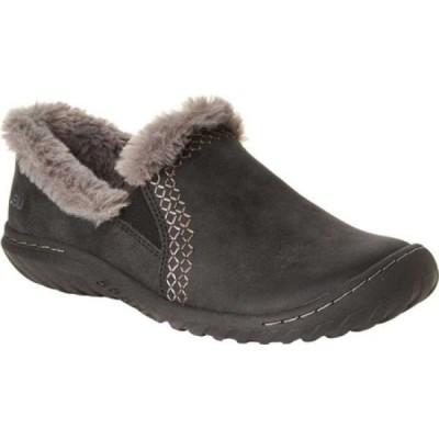 ジャンブー Jambu レディース スリッポン・フラット シューズ・靴 jbu willow slip on Black Brushed Vegan/Textured Wool