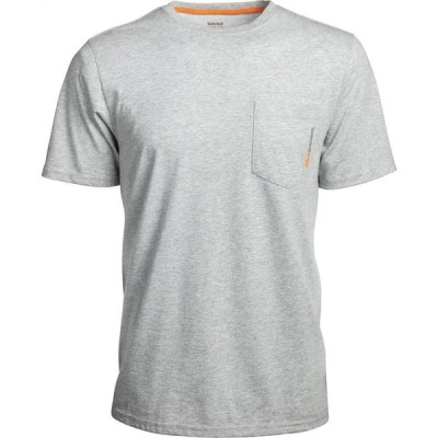 ティンバーランド TIMBERLAND PRO メンズ ポロシャツ トップス Short-Sleeve A1HNS Base Plate Blended Polo LIGHT GRY HTHR C