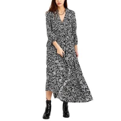 アイエヌシーインターナショナルコンセプト ワンピース トップス レディース INC Printed Puff-Sleeve Maxi Dress,  Petite Paolina