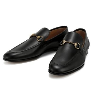 グッチ GUCCI ヨルダーン メンズ シューズ ローファー 靴 ホースビット ブラック 26.0〜29.5cm 406994-BLM00