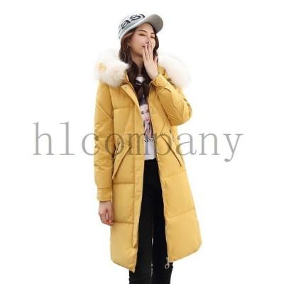 コートレディースロングコート中綿コートジャケットフード付きシルエット防寒ファッション