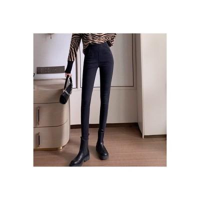 【送料無料】ハイウエストのジーンズ 女 年 秋冬 韓国風 何でも似合う 厚さプラス | 364331_A64065-4460697