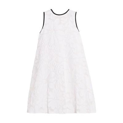 VICTORIA, VICTORIA BECKHAM ミニワンピース&ドレス ホワイト 8 コットン 72% / シルク 18% / ナイロン 10