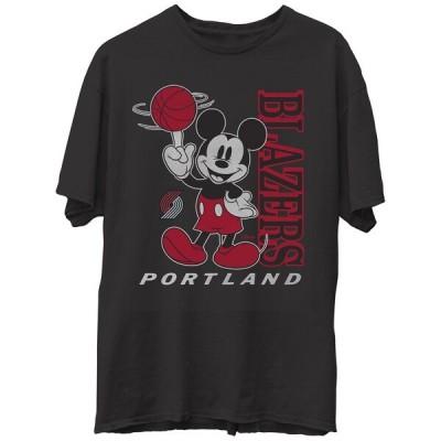 NBA トレイルブレイザーズ Tシャツ ディズニー ミッキーマウス Disney Vintage Mickey Baller T-Shirt Junk Food ブラック