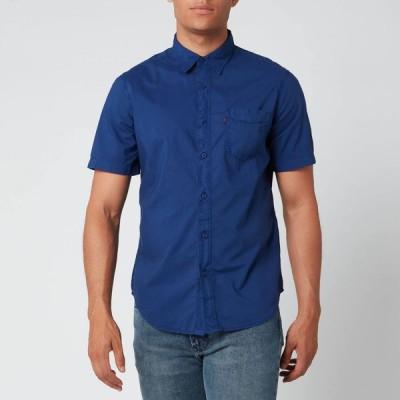 リーバイス Levi's メンズ 半袖シャツ トップス Garment Dye Standard Shirt - Blueprint Blue
