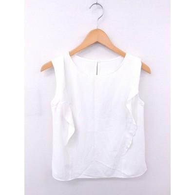 【中古】エムプルミエ M-Premier カットソー Tシャツ 無地 シンプル ノースリーブ 38 白 ホワイト /TT51 レディース 【ベクトル 古着】