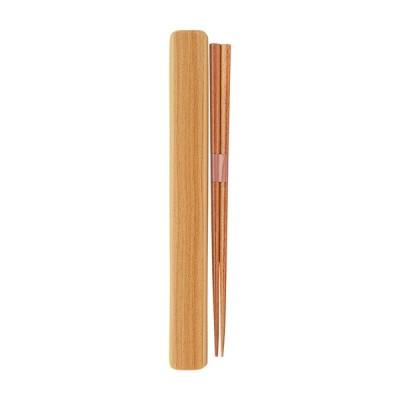 株式会社小森樹脂 塗箸・箸箱セットL ウッドベージュ