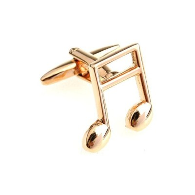 mrcuff音楽Banded Beamed NoteペアCufflinks in a Presentationギフトボックス&ポリッシュクロス