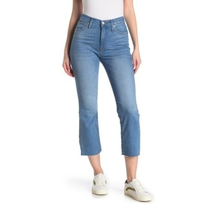 メイドウェル レディース デニムパンツ ボトムス Cali Demi Bootcut Raw Crop Jeans (Regular & Plus Size) WARDEN WASH