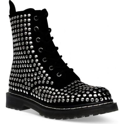 ワイルド ペアー Wild Pair レディース ブーツ レースアップ シューズ・靴 Ryyder Lace-Up Booties Black Studs