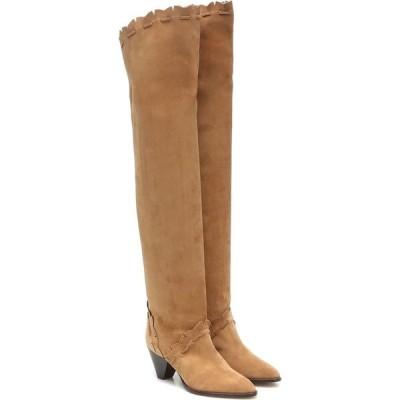 イザベル マラン Isabel Marant レディース ブーツ シューズ・靴 Luiz suede over-the-knee boots Natural