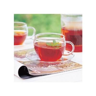 グラス ガラス ガラスのハーブティーカップ&ソーサー 〔お取り寄せ商品〕