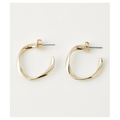 (AZUL by moussy/アズールバイマウジー)TWIST MINI HOOP EARRINGS/レディース L/GLD1