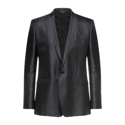 ドルチェ & ガッバーナ DOLCE & GABBANA テーラードジャケット ブラック 52 シルク 100% テーラードジャケット