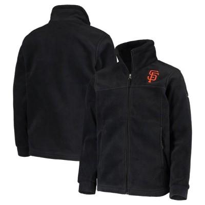 サンフランシスコ・ジャイアンツ Columbia Youth 少年用 Team Flanker Full-Zip ジャケット - Black