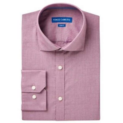 Vince ヴィンス ファッション ドレス VINCE CAMUTO NEW Purple Mens Size 16 Slim Fit Woven Button Down Shirt