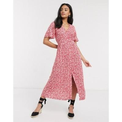 ミスセルフフリッジ レディース ワンピース トップス Miss Selfridge ditsy floral midi dress in red