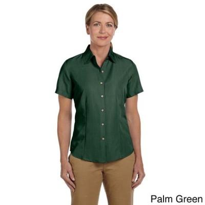 レディース 衣類 トップス Harriton Women's 'Barbados' Textured Camp Shirt ブラウス&シャツ