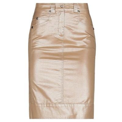 ANGELO MARANI ひざ丈スカート  レディースファッション  ボトムス  スカート  ロング、マキシ丈スカート キャメル