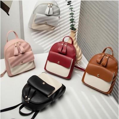 新しい女性のバックパックヒットカラーかわいいバッグアウトドア旅行小さなバックパック韓国の学生バッグ