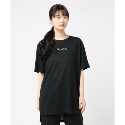 tシャツ Tシャツ RVCA レディース  RELEASER SMALL RVCA Tシャツ/ルーカ 半袖 ドロップショルダー ワンポイント ビッグシ