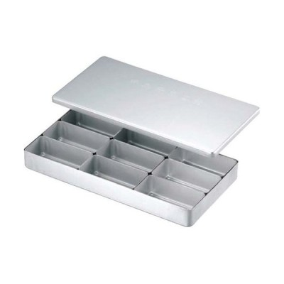 アカオアルミ アルミ検食容器 C型(飲食店用) C-9 AKV16
