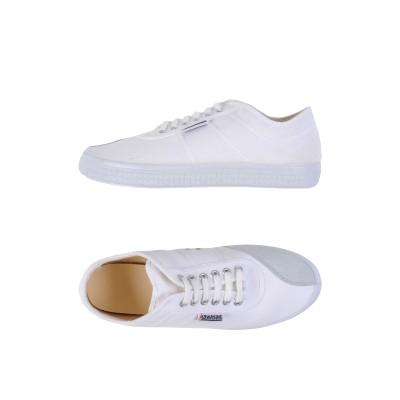 KAWASAKI スニーカー&テニスシューズ(ローカット) ホワイト 41 革 / 紡績繊維 スニーカー&テニスシューズ(ローカット)