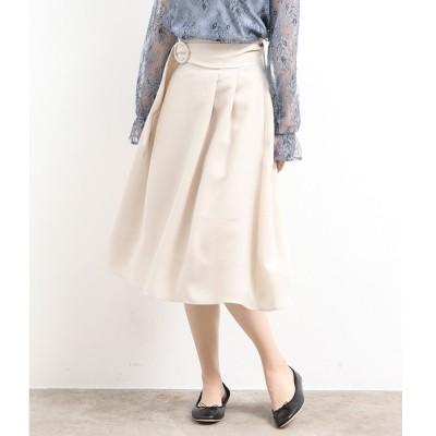 【ビス/ViS】 リングバックルベルト付きフレアスカート
