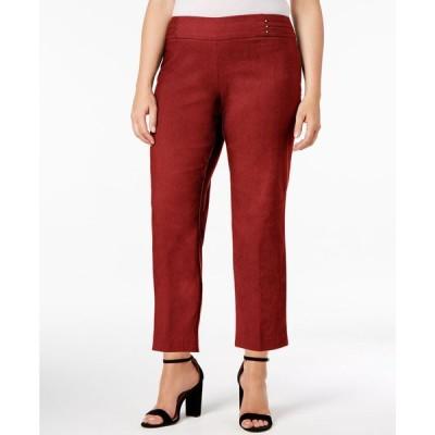 ジェイエムコレクション JM Collection レディース クロップド 大きいサイズ ボトムス・パンツ Plus Size Tummy Control Pull-On Capri Pants Rust
