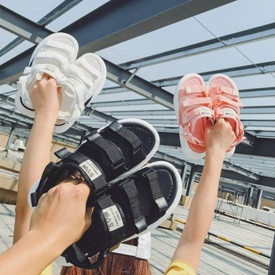 新品 スポーツサンダル 履きやすい レディース スニーカー フラットシューズ ベルクロ 厚底サンダル レディース スポサン ビーチ サンダル ビーサン サンダル