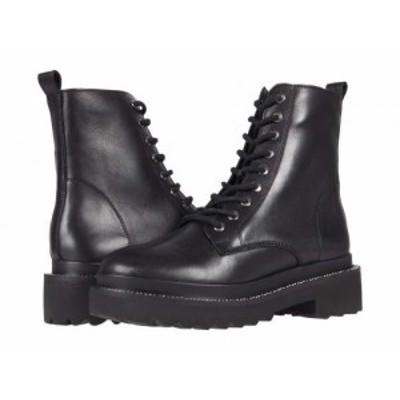 Steve Madden スティーブマデン レディース 女性用 シューズ 靴 ブーツ レースアップ 編み上げ Graham Boot Black Leather【送料無料】