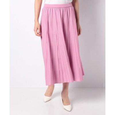LAPINE BLANCHE / ラピーヌ ブランシュ 14G天竺 配色ニットスカート