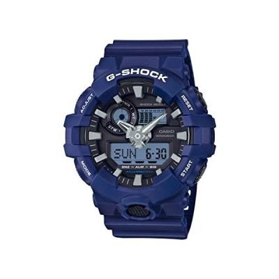 腕時計 カシオ メンズ GA-700-2ACR Casio Men's G Shock Quartz Watch with Resin Strap, Blue, 25.8 (Model