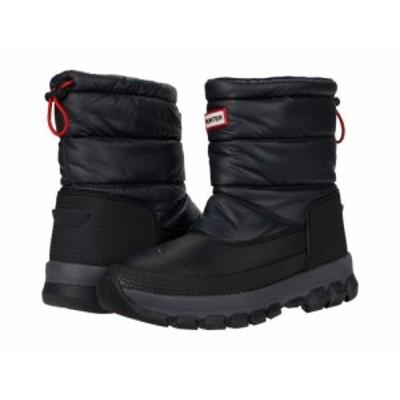HUNTER ハンター メンズ 男性用 シューズ 靴 ブーツ スノーブーツ Original Insulated Snow Boots Short Black【送料無料】