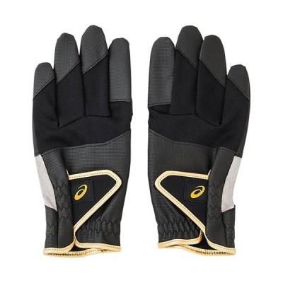 アシックス(asics) グラウンドゴルフ パワーグリップグローブ ブラック 3283A029 001 グランドゴルフ グローブ 手袋