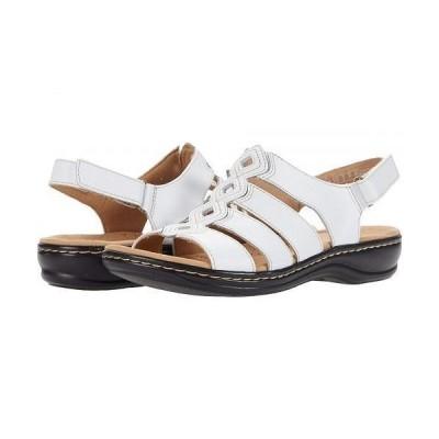 Clarks クラークス レディース 女性用 シューズ 靴 サンダル Leisa Ruby - White Leather