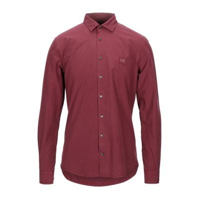 BOSS HUGO BOSS シャツ ボルドー XL コットン 100% シャツ