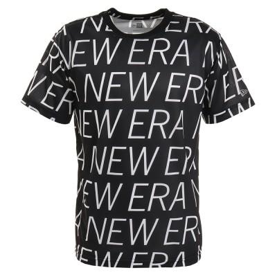 NEW ERAウェア テック 半袖Tシャツ オールオーバー 12375706 ブラック