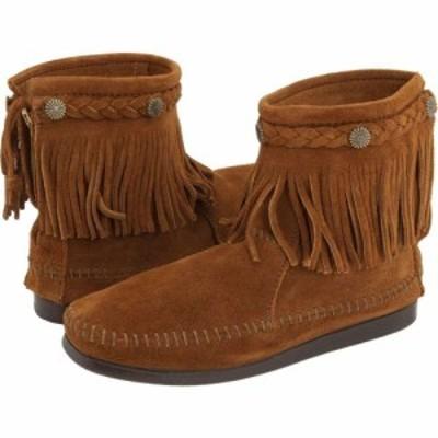 ミネトンカ Minnetonka レディース ブーツ シューズ・靴 Hi-Top Back Zip Boot Brown Suede