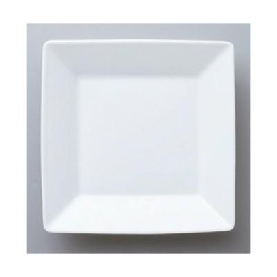 ☆ ボーダーレススタイル ☆スクエアーホワイト18cm深皿 [ 18 x 3.4cm 425g ] 【 ホテル レストラン 洋食器 飲食店 業務用 】