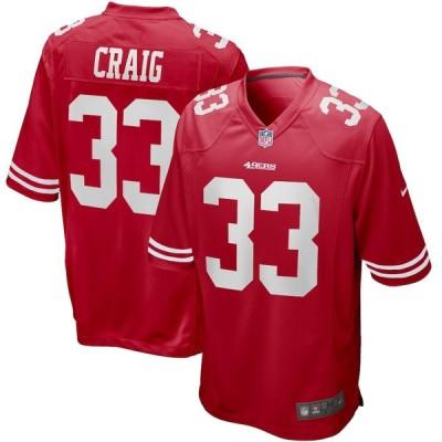 """メンズ ジャージー Roger Craig """"San Francisco 49ers"""" Nike Game Retired Player Jersey - Scarlet"""