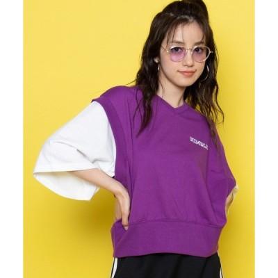 tシャツ Tシャツ WEGO/ベストレイヤードTシャツ