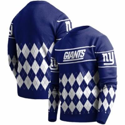 """メンズ セーター """"New York Giants"""" Retro Sweater - Royal"""