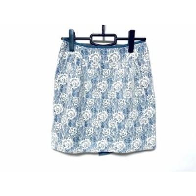 ジャスグリッティー JUSGLITTY スカート サイズ2 M レディース 美品 アイボリー×ブルー【中古】20190825