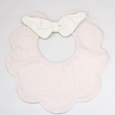 ビブ リアン ド ファミーユ Baby もこもこ天使スタイ ピンク K04-02306
