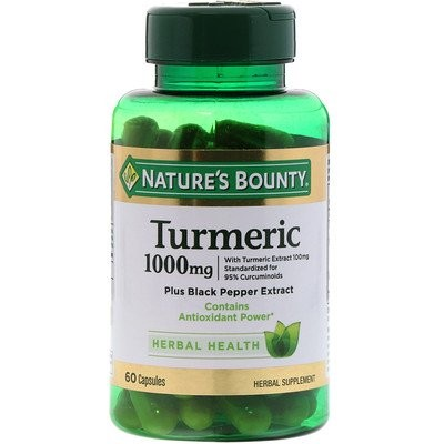 Turmeric, 1,000 mg, 60 Capsules